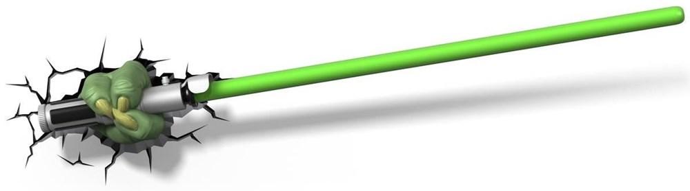 3D Licht Star Wars Yoda Lichtschwert