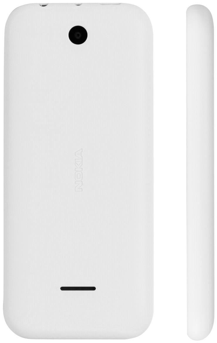 Nokia 225 Dual-SIM  8 MB Barren Handy ohne Vertrag/SIMlock,  weiß (Handy)