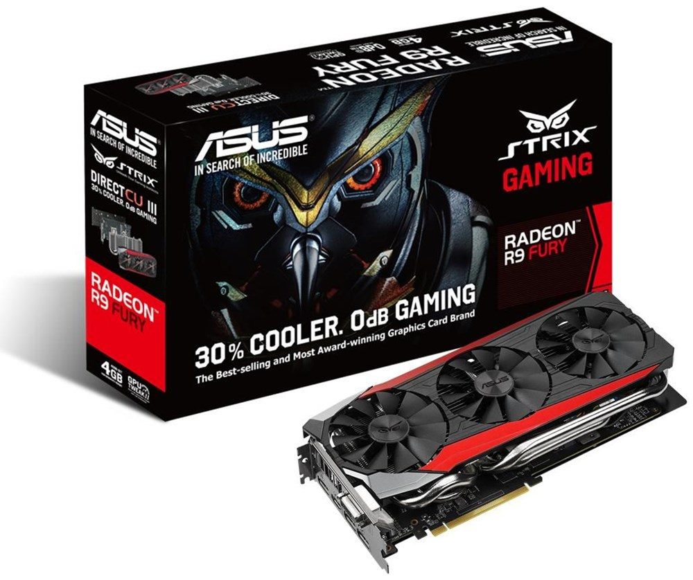 Placa de vídeo ASUS Strix-R9FURY-DC3-4G-Gaming -Especificação