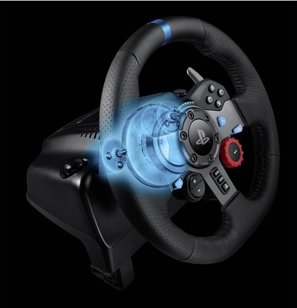 logitech g29 driving force rennlenkrad ps4 ps3 pc joysticks gamepads wheels computeruniverse. Black Bedroom Furniture Sets. Home Design Ideas