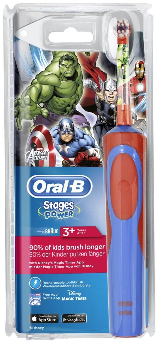 braun oral b stages power kids avengers elektrische. Black Bedroom Furniture Sets. Home Design Ideas