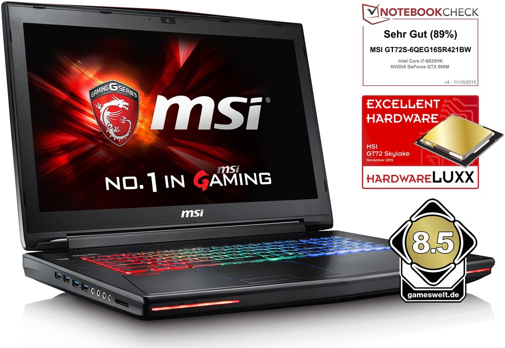 msi gt72s 6qeg81fd sku1106 ohne betriebssystem notebooks. Black Bedroom Furniture Sets. Home Design Ideas