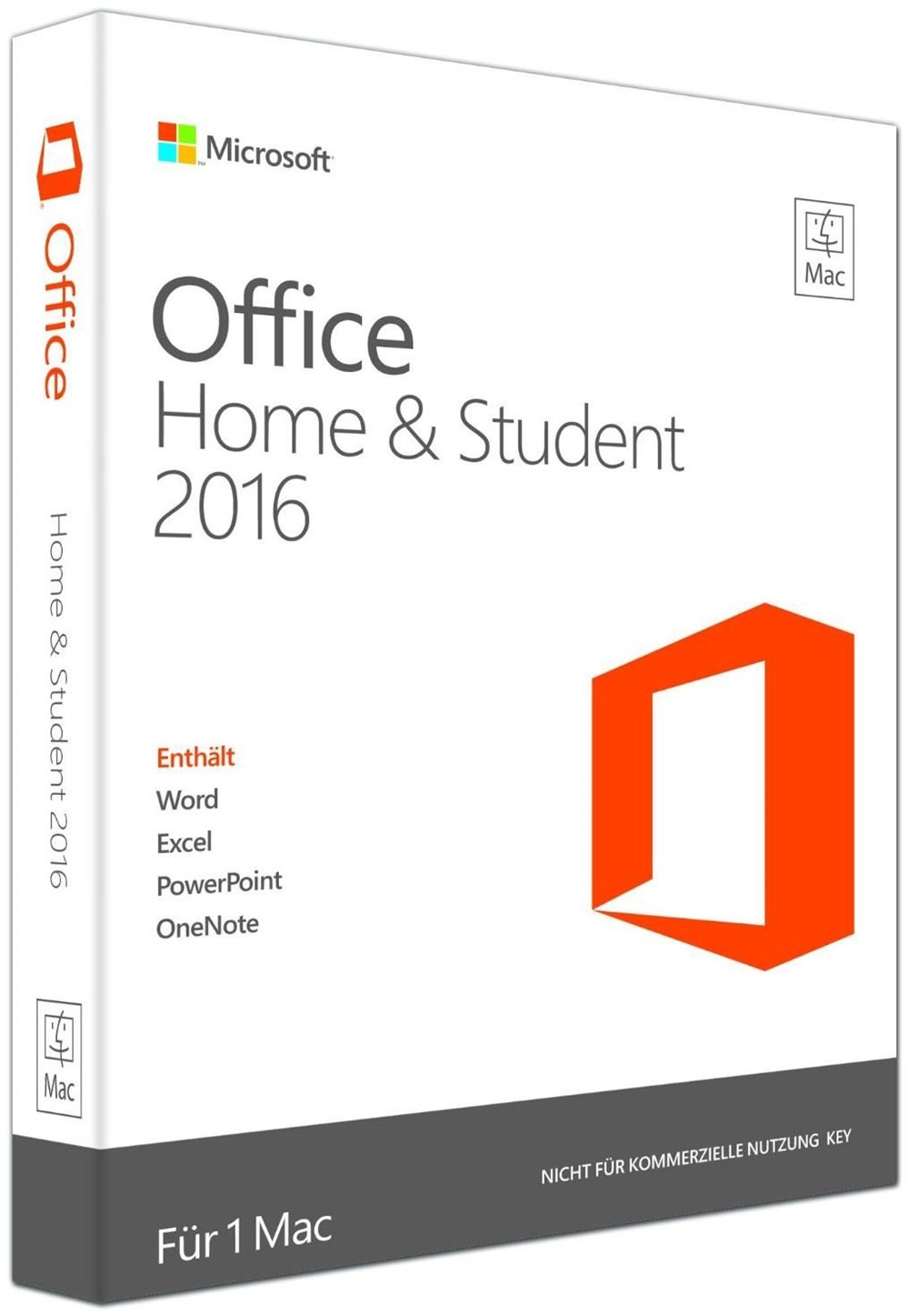 microsoft office 2016 home and student mac de pkc apple software computeruniverse. Black Bedroom Furniture Sets. Home Design Ideas