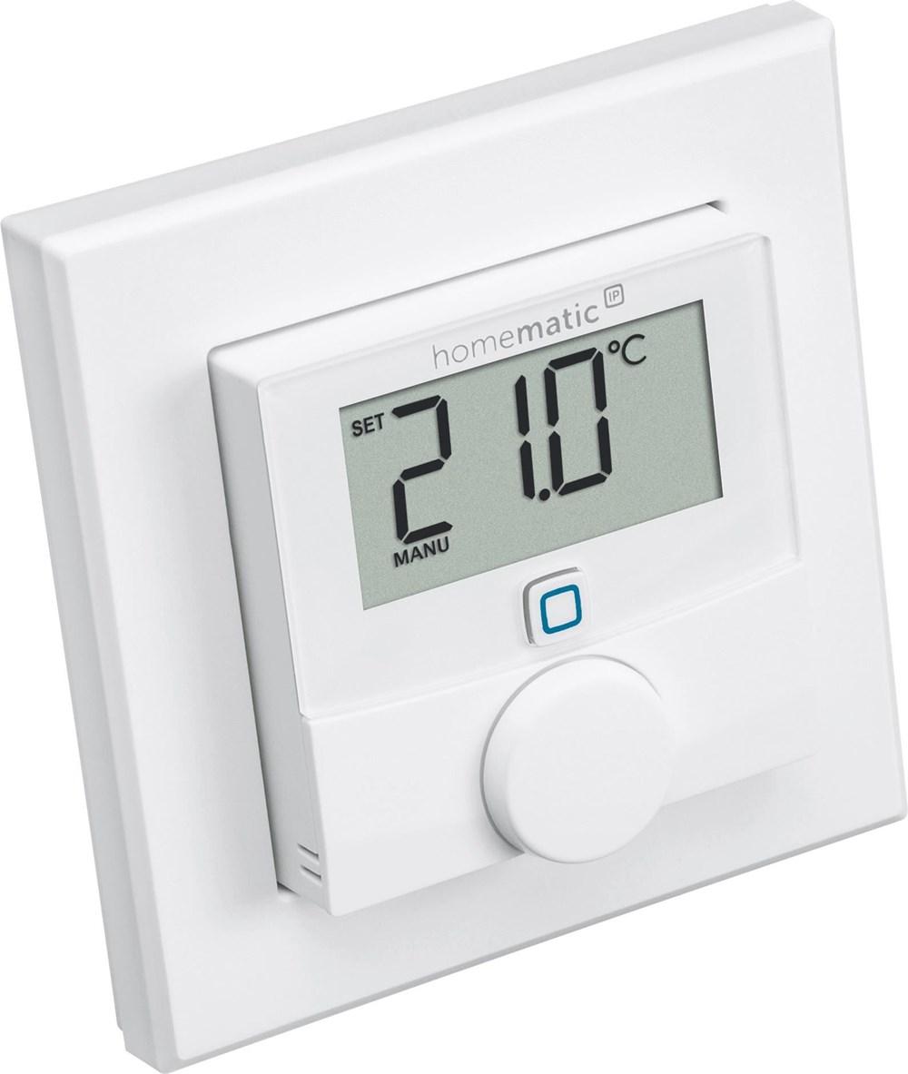 homematic ip wandthermostat mit luftfeuchtigkeitssensor hmip wth smart home energiesparen. Black Bedroom Furniture Sets. Home Design Ideas