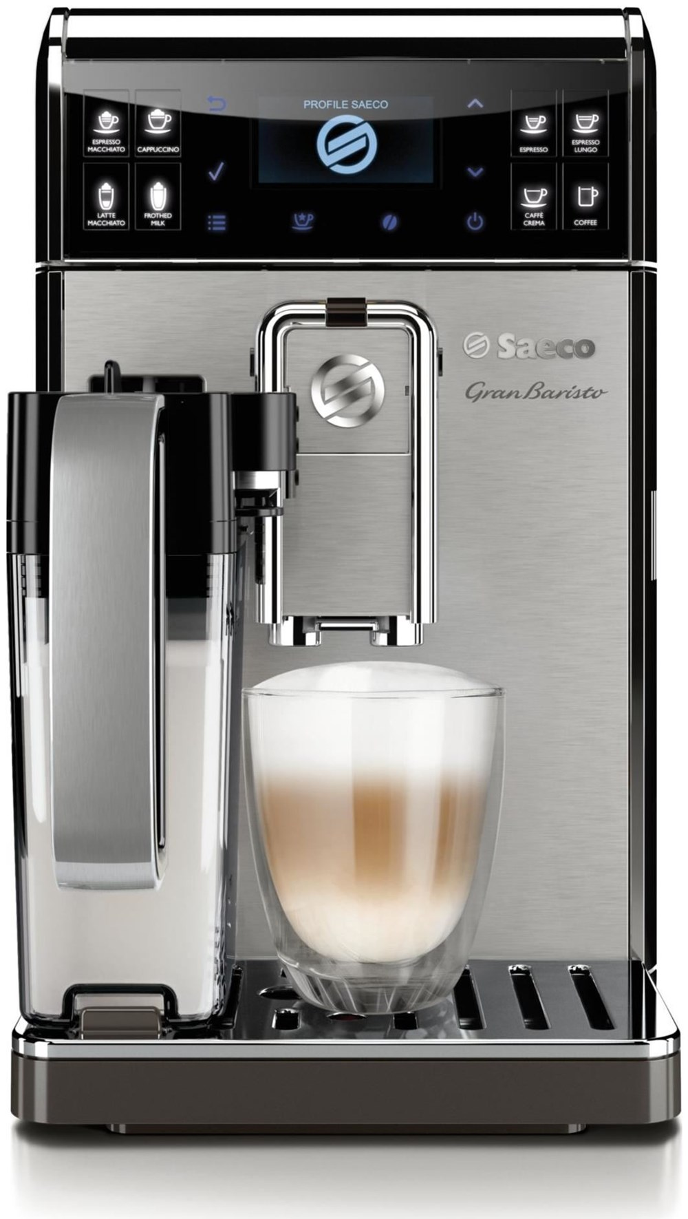 Philips Coffee Maker Bean To Cup : Philips Saeco HD8975/01 GranBaristo schwarz / silber - Bean-to-Cup Coffee Machines ...