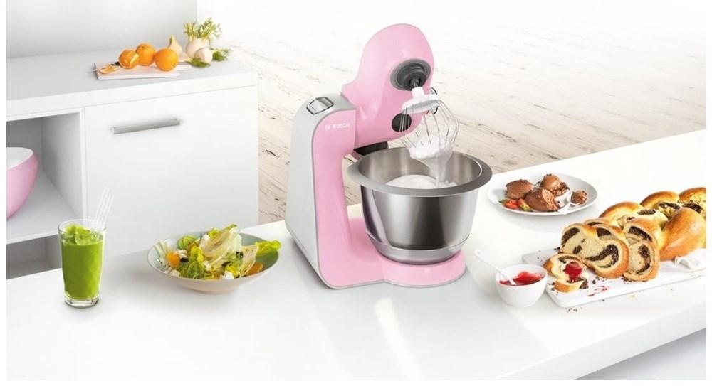 Bosch MUM58K20 pink / silber CreationLine - Kitchen Appliances ...