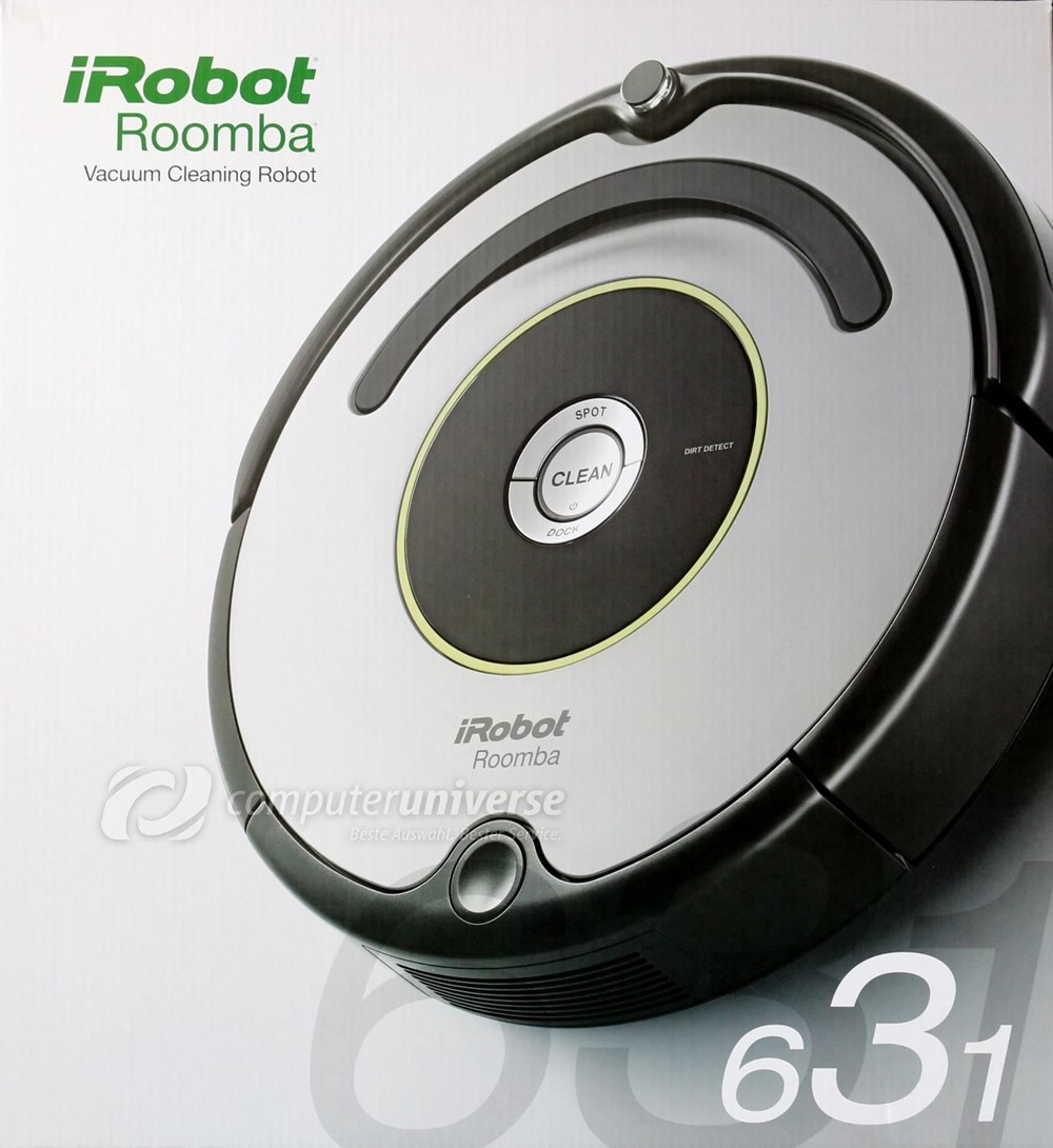 irobot roomba 631 staubsauger roboter staubsauger roboter robotic vacuum cleaners. Black Bedroom Furniture Sets. Home Design Ideas