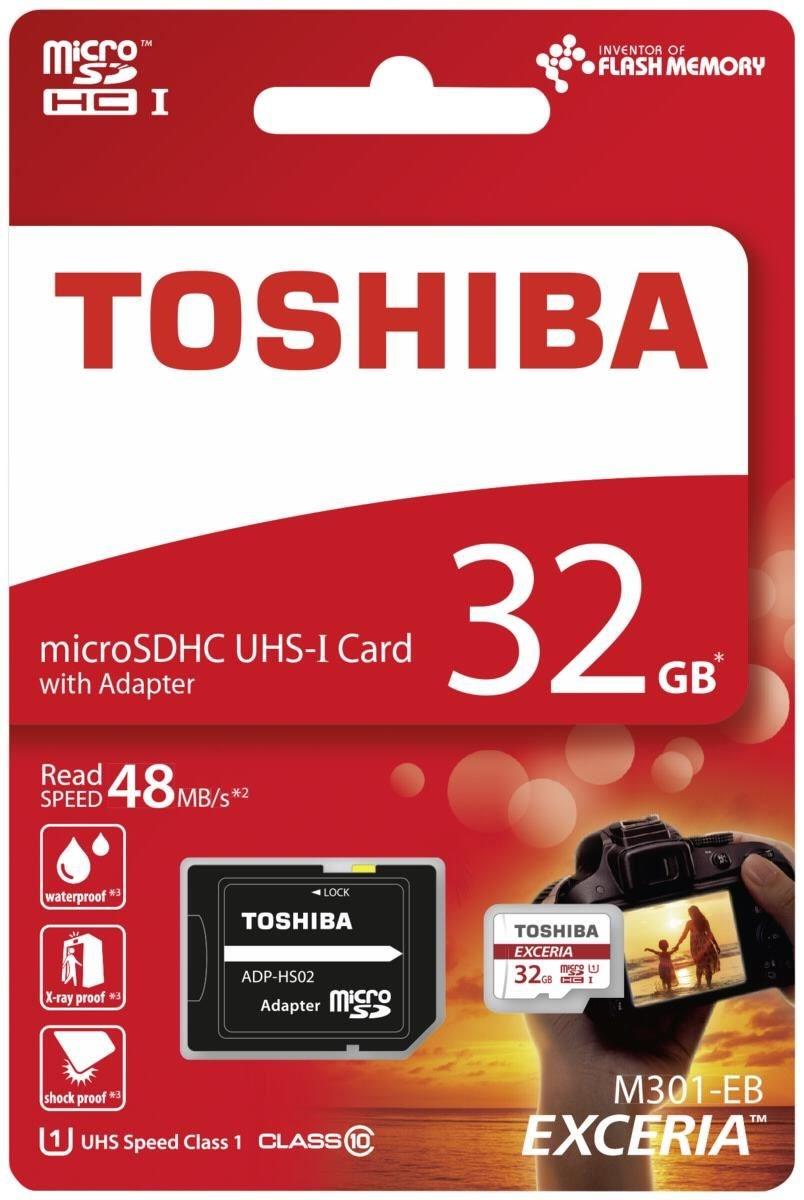 Toshiba EXCERIA M301 microSDHC 32GB THN-M301R0320EA