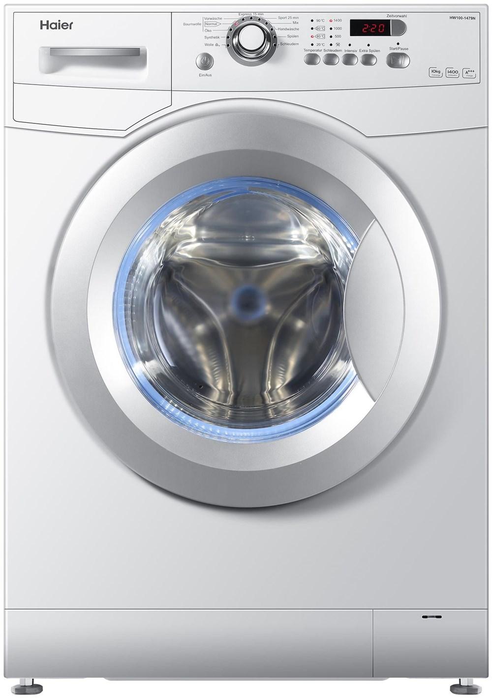 haier hw 100 1479n eek a wei waschmaschine ebay. Black Bedroom Furniture Sets. Home Design Ideas