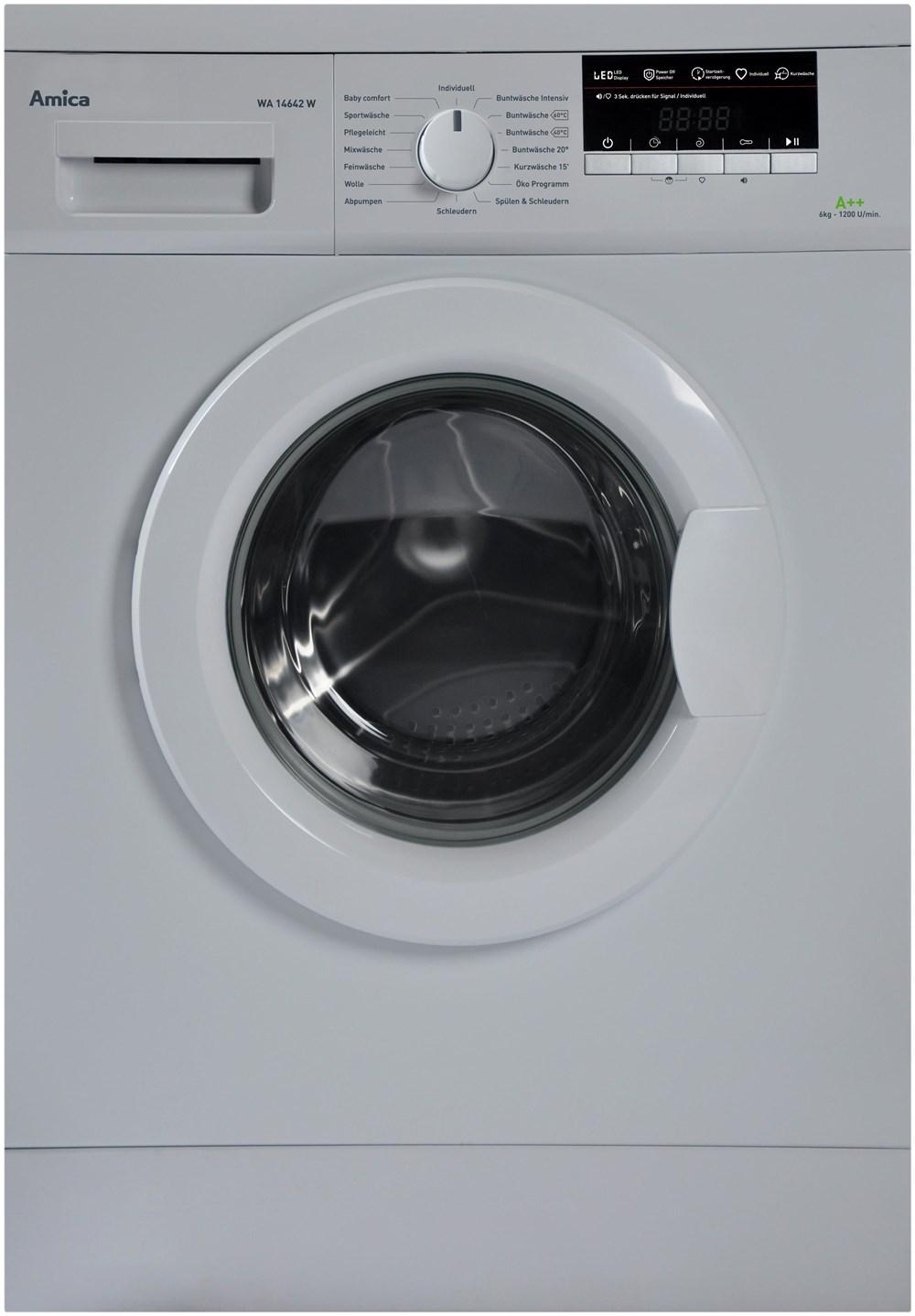amica wa 14642 w waschmaschine waschmaschinen computeruniverse. Black Bedroom Furniture Sets. Home Design Ideas
