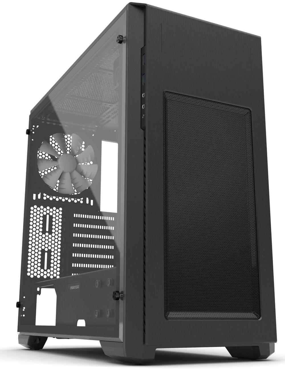 phanteks enthoo pro m midi tower mit acryl fenster schwarz pc geh use computeruniverse. Black Bedroom Furniture Sets. Home Design Ideas