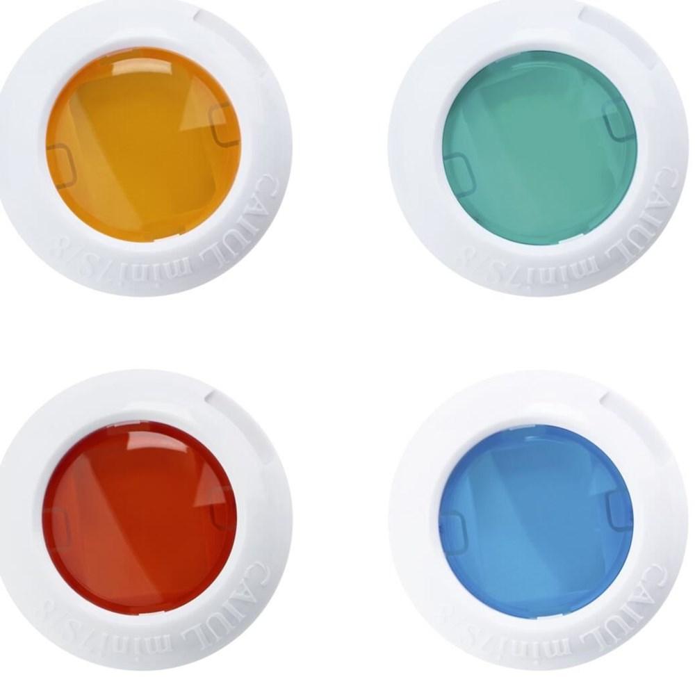 Fujifilm Instax mini Colour Lenses - Standard instax 7s 8 Blau Grün Rot Gelb (70100127831) - broschei