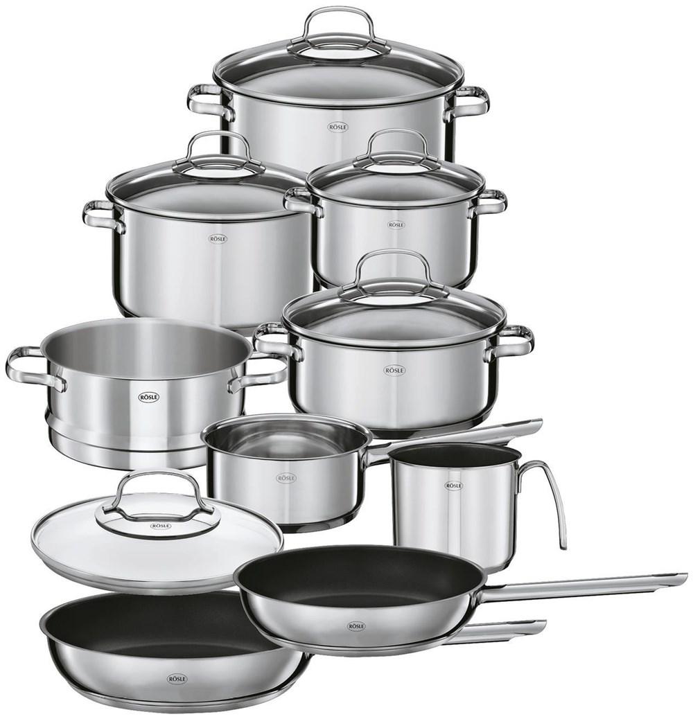 rösle topfset  tlg elegance  pans  cooking pots  - rösle topfset  tlg elegance  pans  cooking pots  computeruniverse