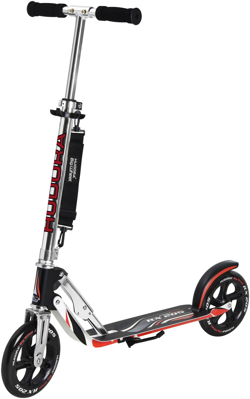 Hudora Scooter Big Wheel RX 205 Roller schwarz/rot 14724