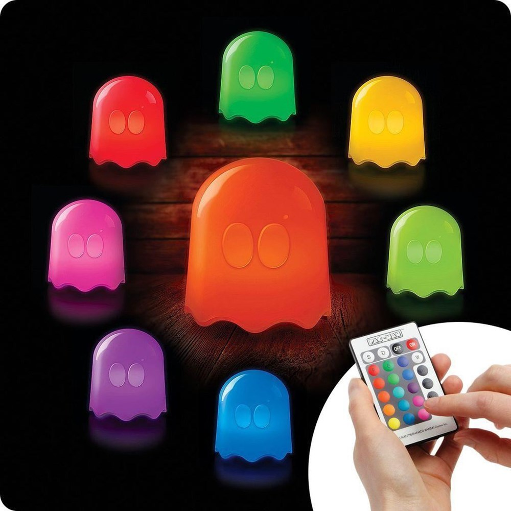 Pacman Ghost Geist LED Farbwechsel Lampe