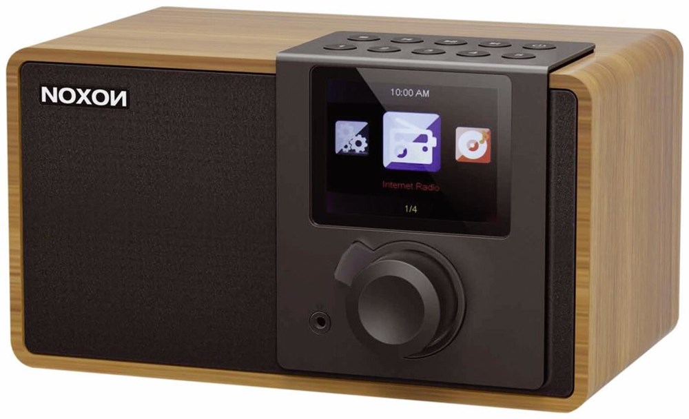 noxon iradio1w internet radio walnuss holz boomboxes computeruniverse. Black Bedroom Furniture Sets. Home Design Ideas
