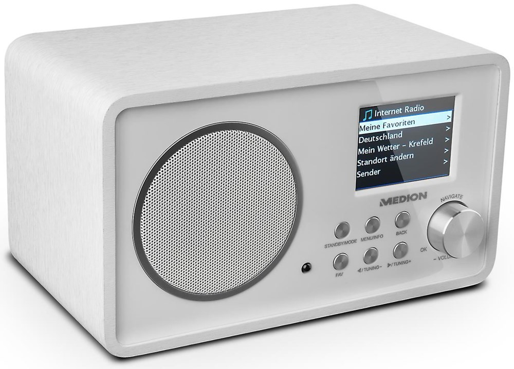 Medion Life E85052 (MD 87267) weiß Wireless LAN Internet-Radio