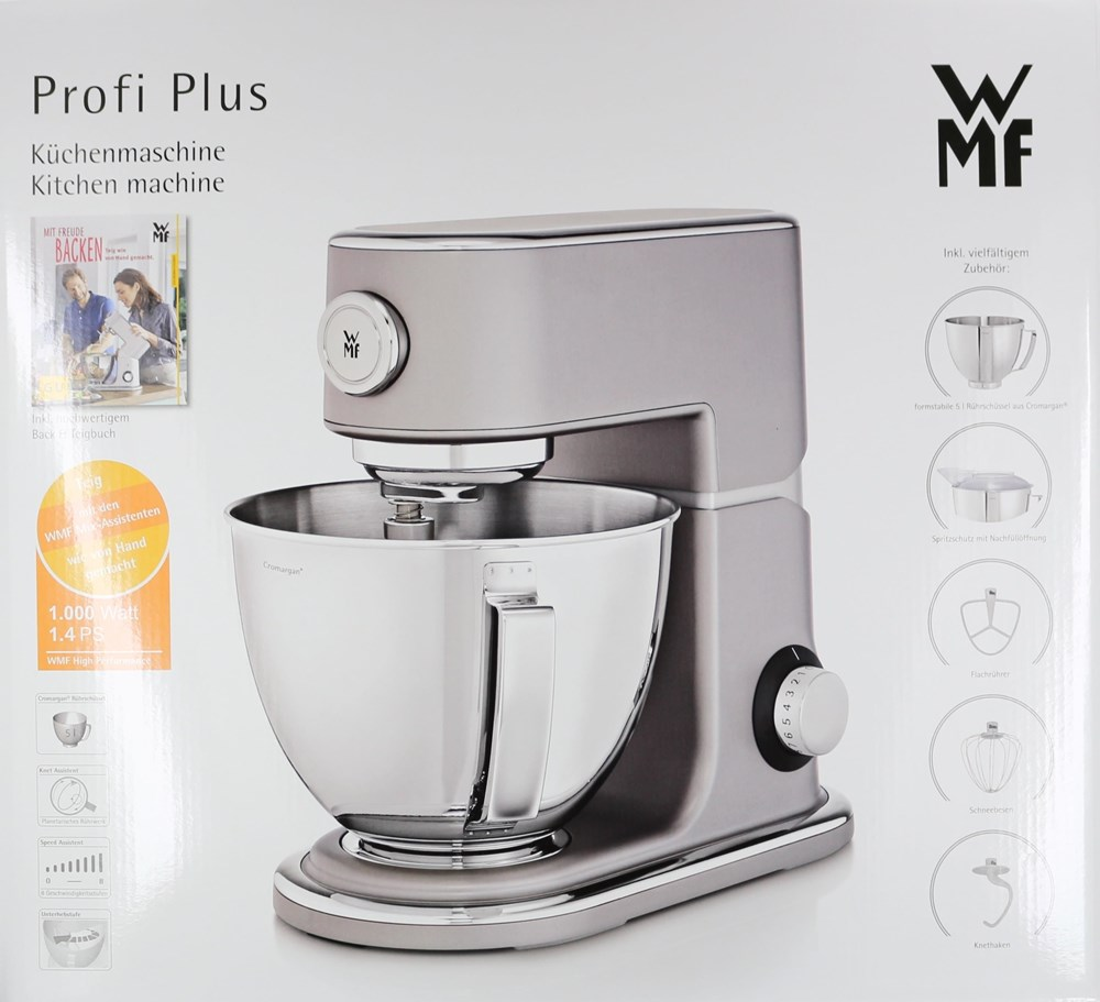 WMF Profi Plus Küchenmaschine 1000W stahl grau - Kitchen Appliances ...