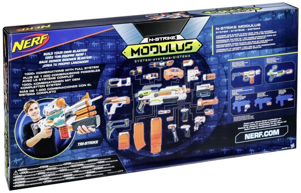 hasbro nerf n strike elite modulus tri strike blaster. Black Bedroom Furniture Sets. Home Design Ideas