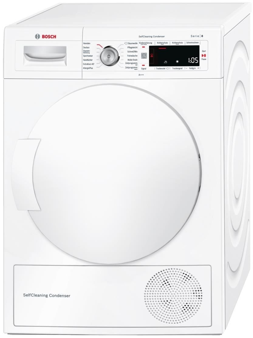 bosch wtw845w0 w rmepumpentrockner 8kg a tumble dryers computeruniverse. Black Bedroom Furniture Sets. Home Design Ideas