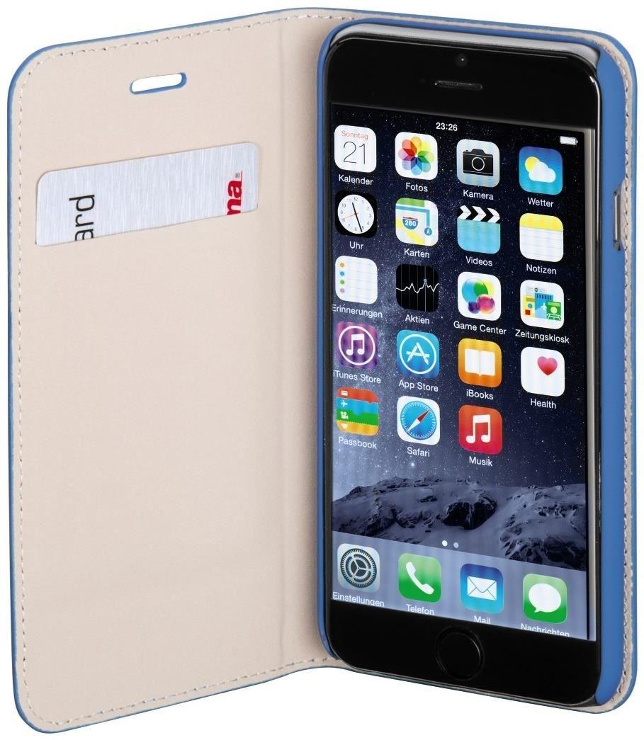 hama booklet slim f r apple iphone 6 ozeanblau. Black Bedroom Furniture Sets. Home Design Ideas