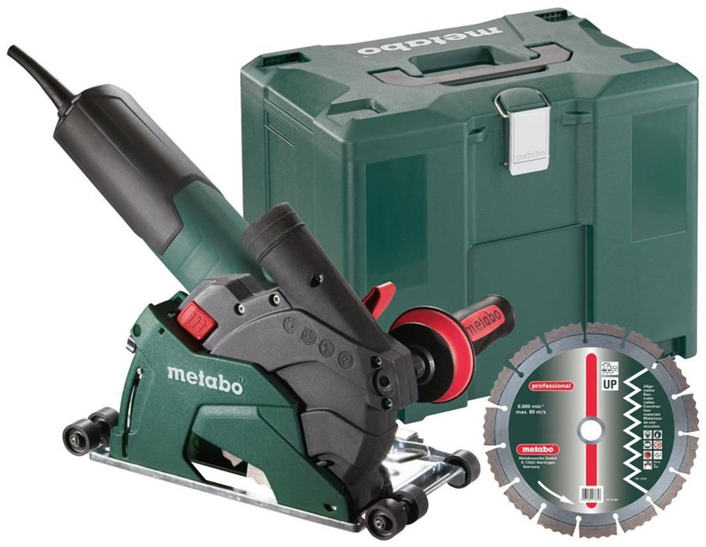 Metabo w 12 125 hd set ced plus winkelschleifer 4421498 for Couper carrelage disqueuse