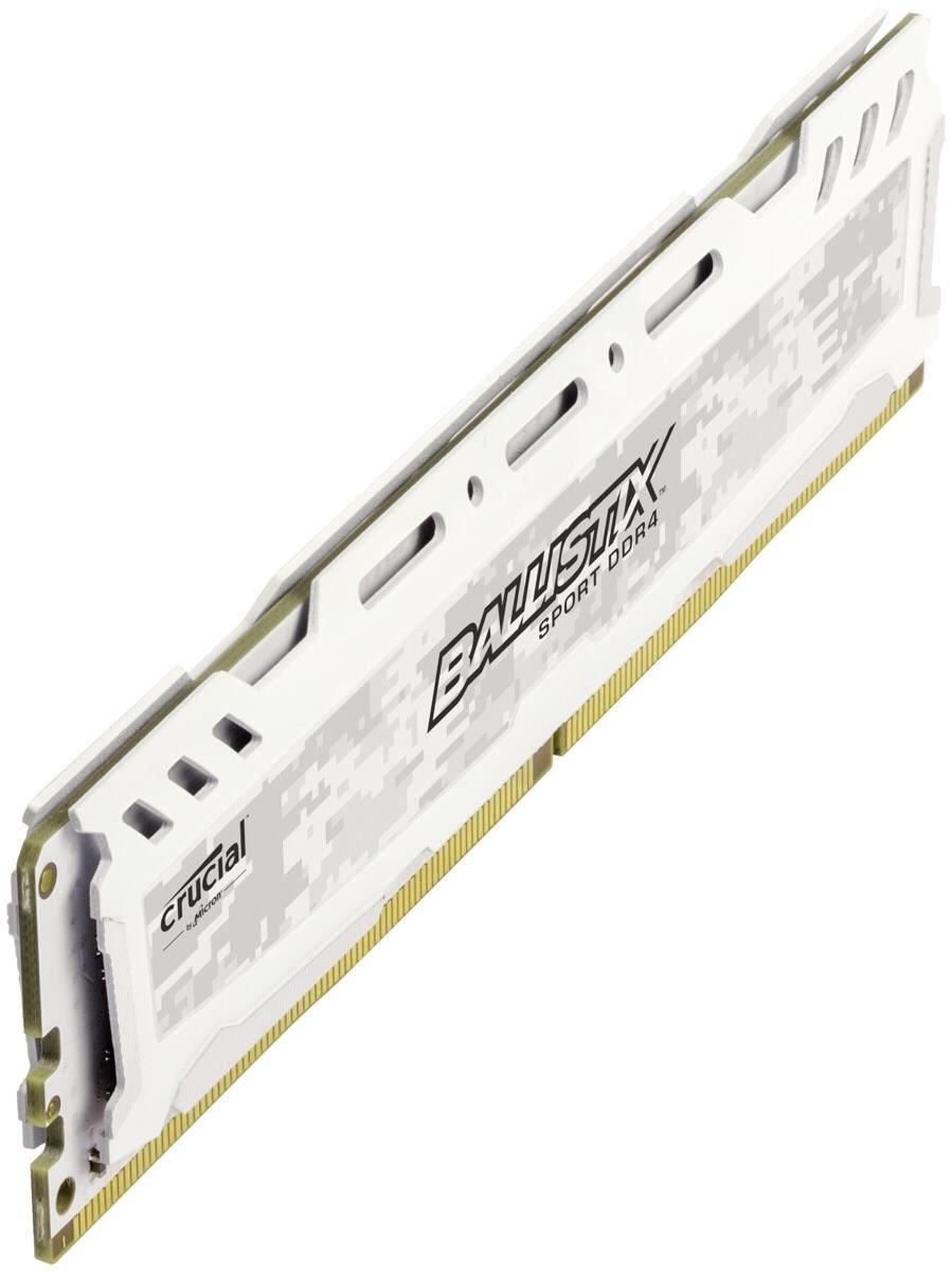 Crucial Ballistix Sport LT Weiß 8GB DDR4 2400 BLS8G4D240FSC