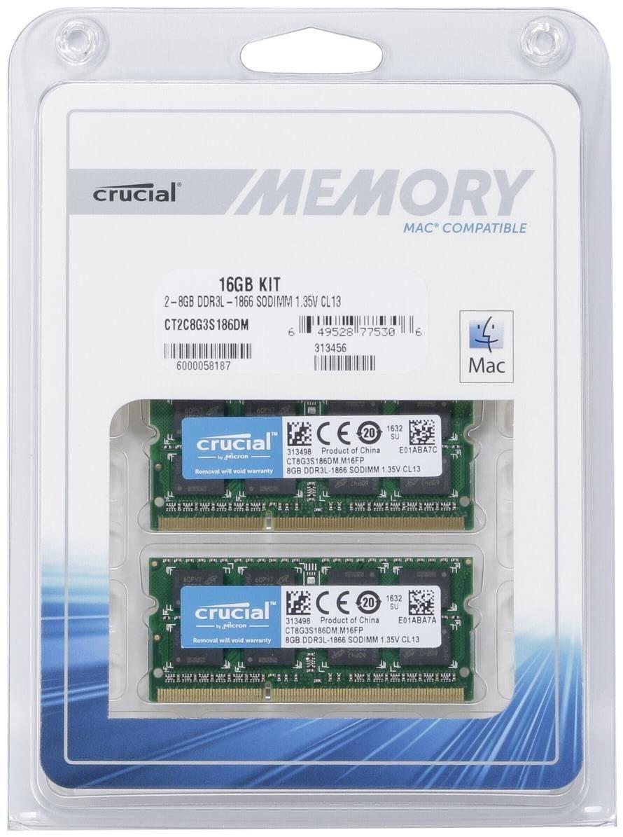 Crucial 16GB DDR3L SO-DIMM Kit CT2C8G3S186DM