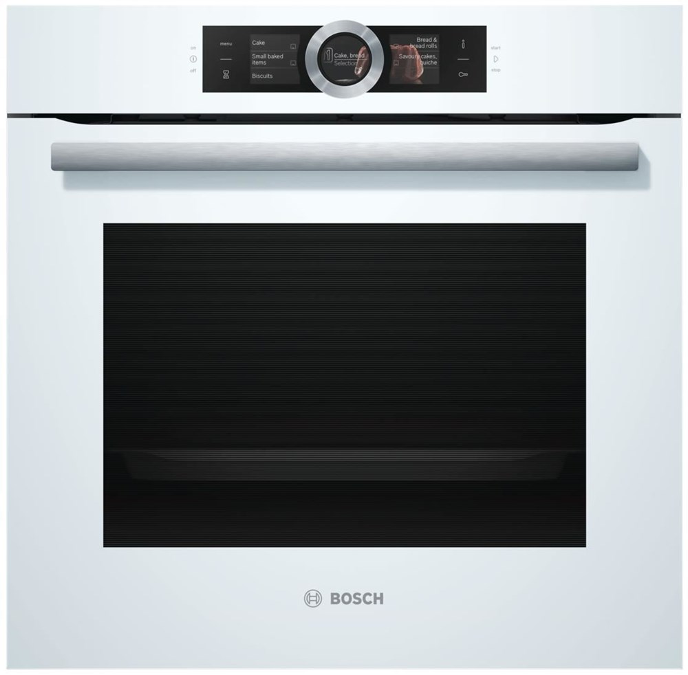 bosch hbg676ew6 polar wei pyrolyse schnellaufheizung home connect wall ovens built in. Black Bedroom Furniture Sets. Home Design Ideas