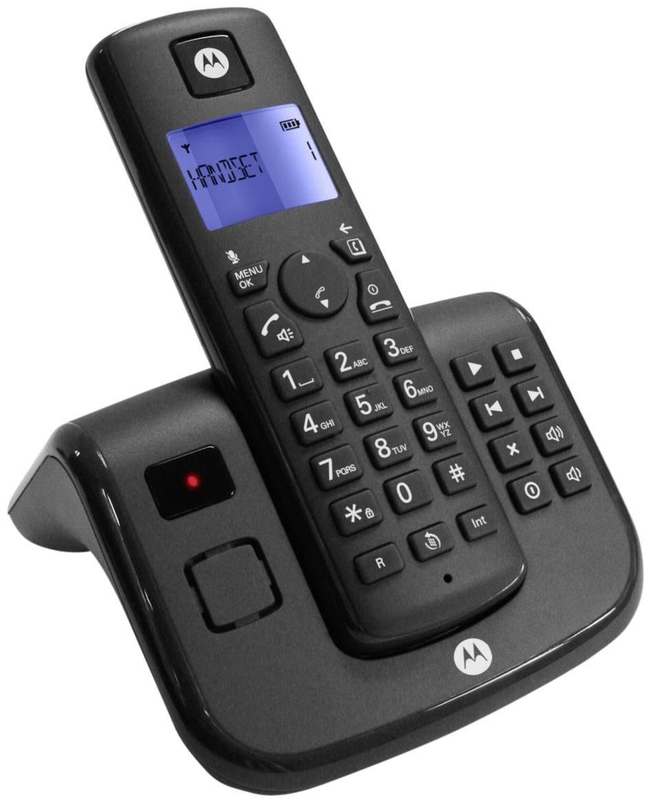 Motorola T211 DECT Telefon mit Anfrufbeantworter schwarz - Preisvergleich