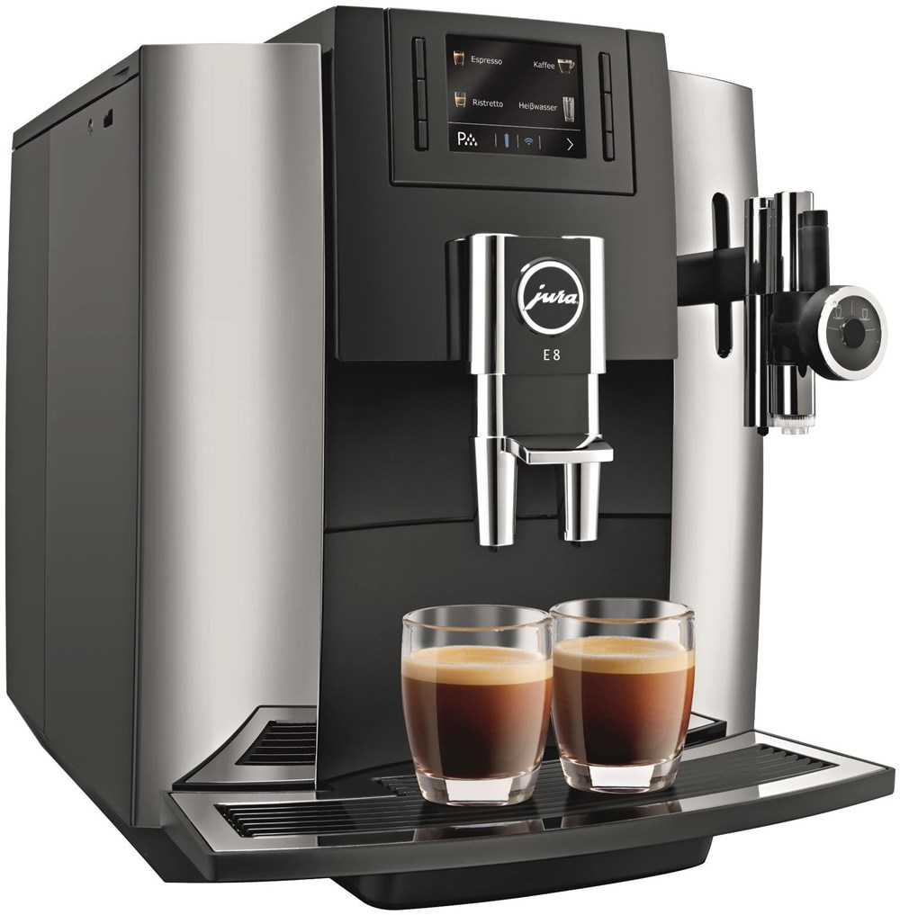 jura e8 chrom kaffeevollautomaten computeruniverse. Black Bedroom Furniture Sets. Home Design Ideas