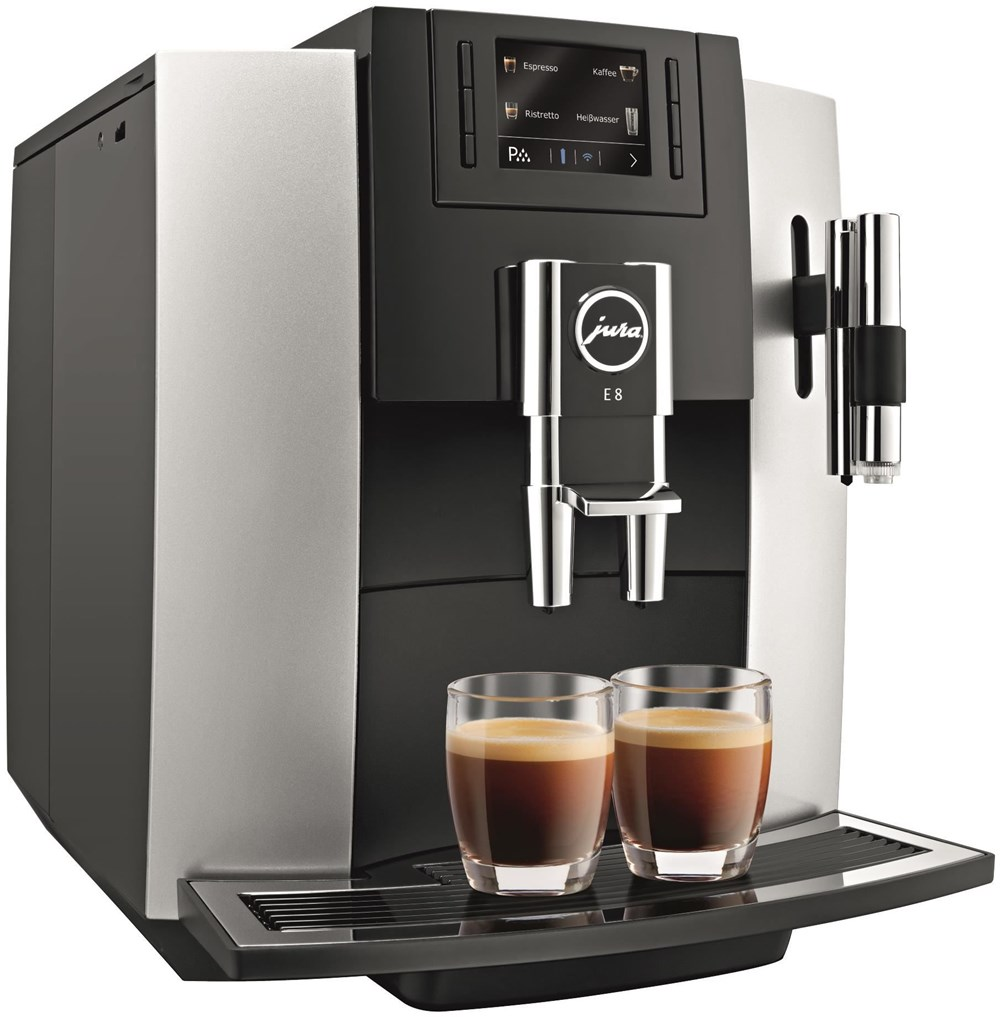 jura e8 platin bean to cup coffee machines computeruniverse. Black Bedroom Furniture Sets. Home Design Ideas