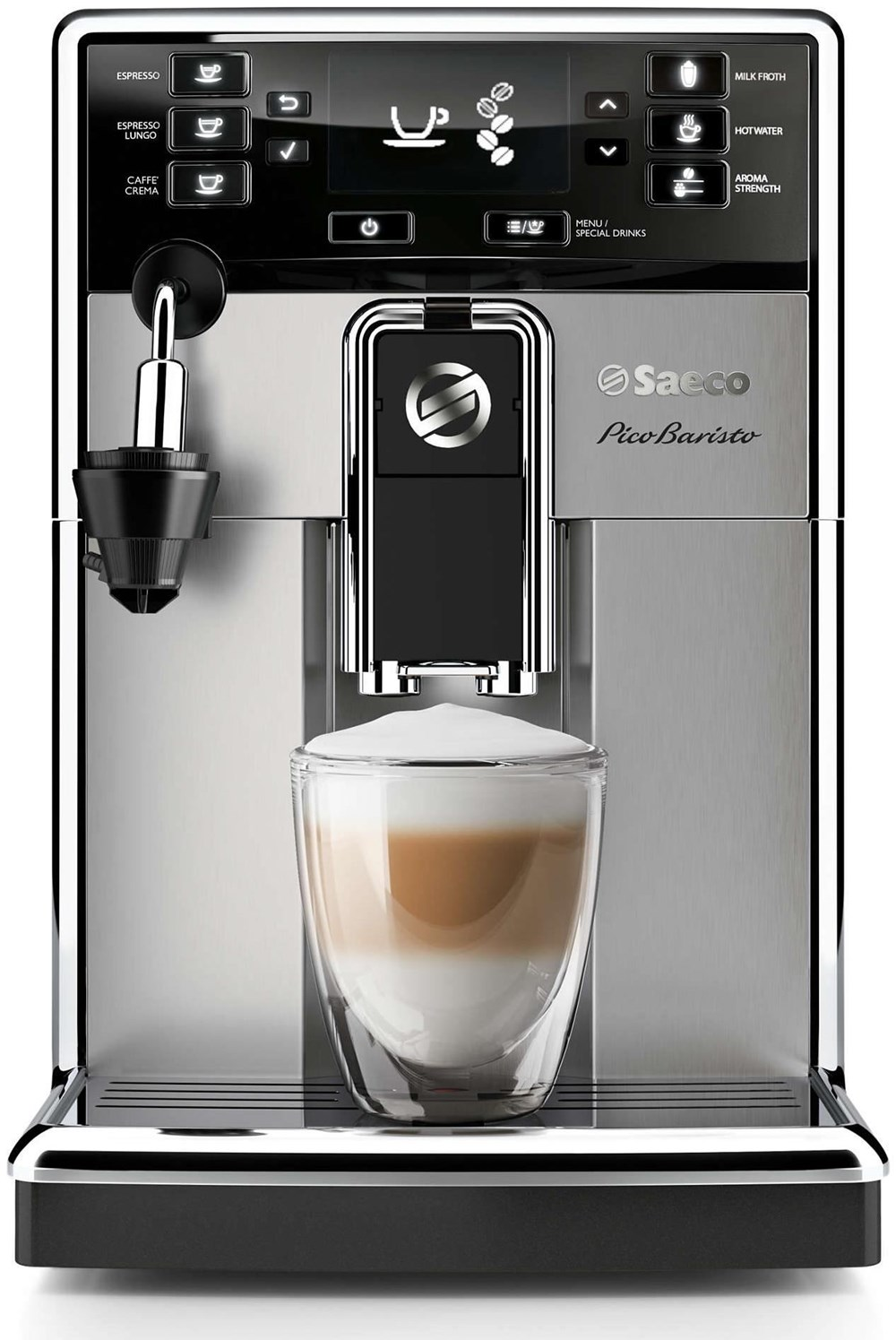 Philips Coffee Maker Bean To Cup : Philips HD8924/01 Saeco PicoBaristo Kaffeevollautomat edelstahl / silber - Bean-to-Cup Coffee ...