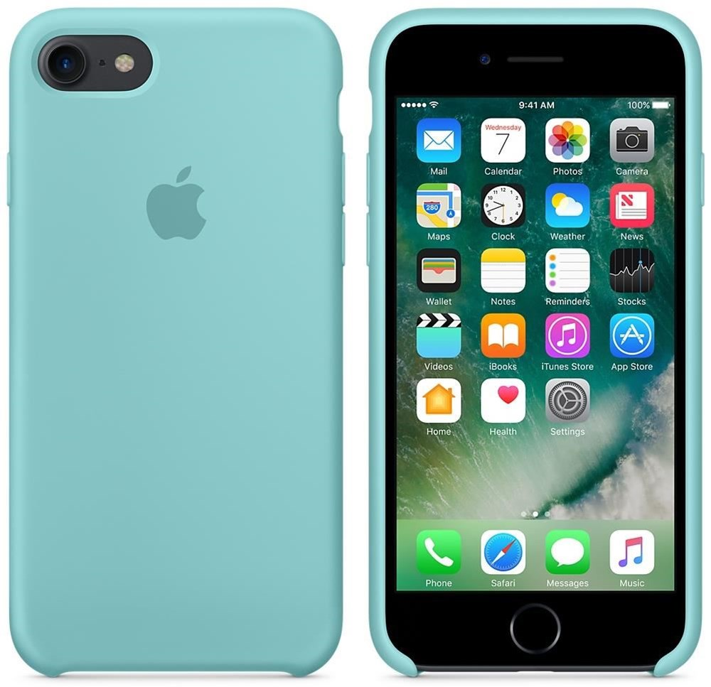 apple silikon case f r iphone 7 sea blue smartphone. Black Bedroom Furniture Sets. Home Design Ideas