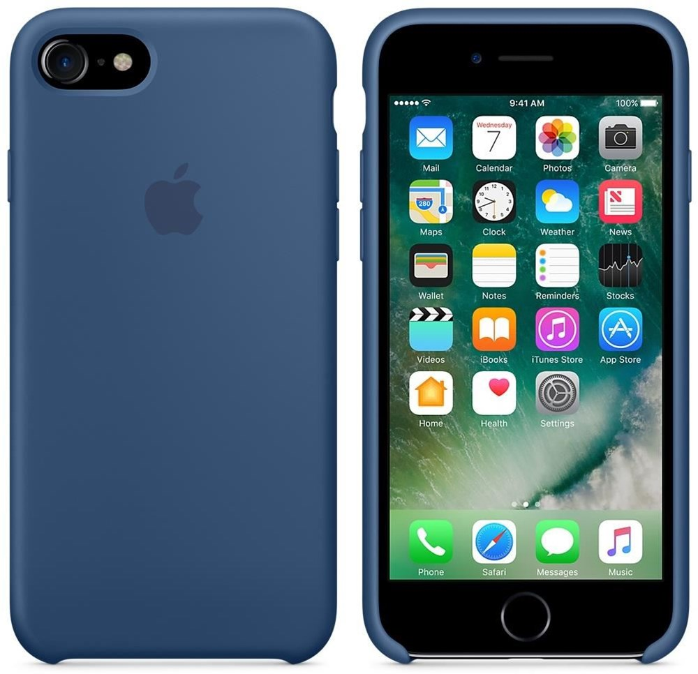 apple silikon case f r iphone 7 ocean blue smartphone taschen handy taschen computeruniverse. Black Bedroom Furniture Sets. Home Design Ideas