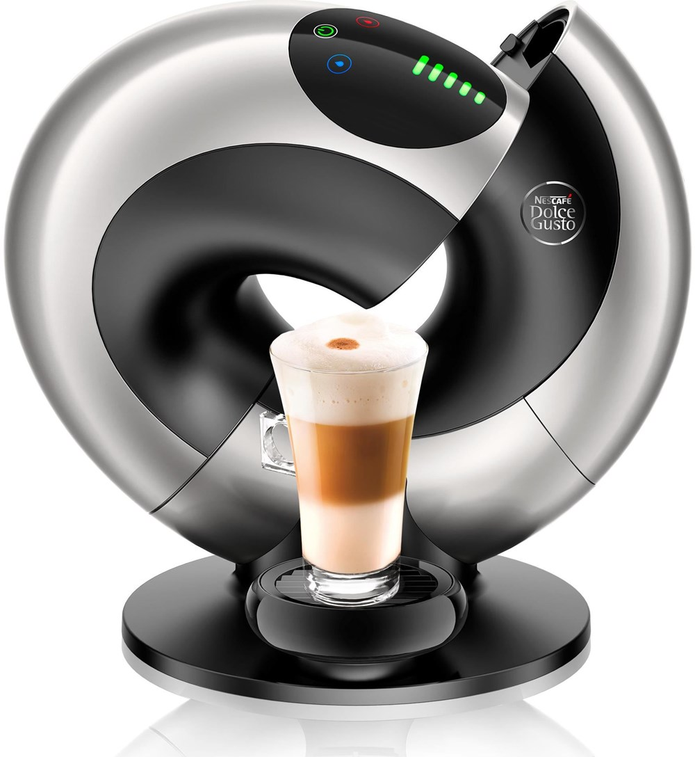 delonghi dolce gusto edg 736 s eclipse platinum silver coffee pod capsule machines. Black Bedroom Furniture Sets. Home Design Ideas