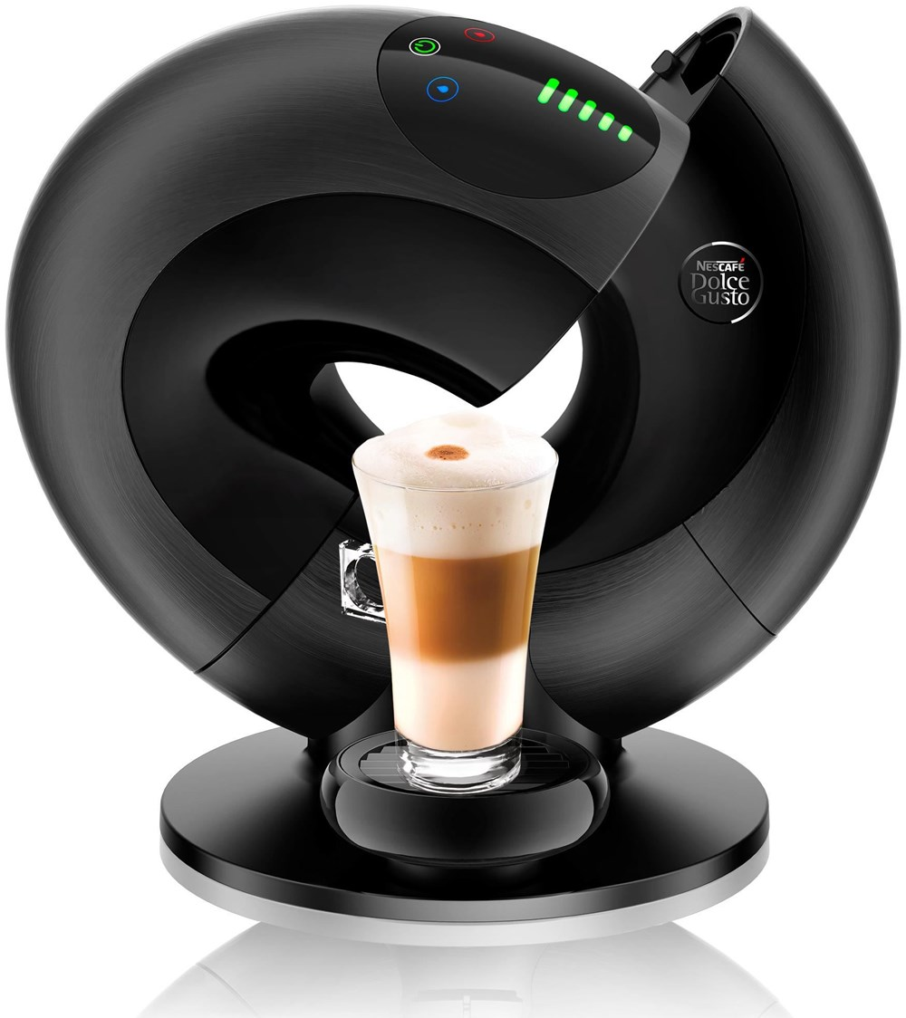 delonghi dolce gusto edg 737 b eclipse brushed black metal. Black Bedroom Furniture Sets. Home Design Ideas