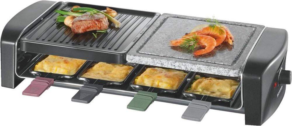severin rg 9645 raclette schwarz raclettes. Black Bedroom Furniture Sets. Home Design Ideas