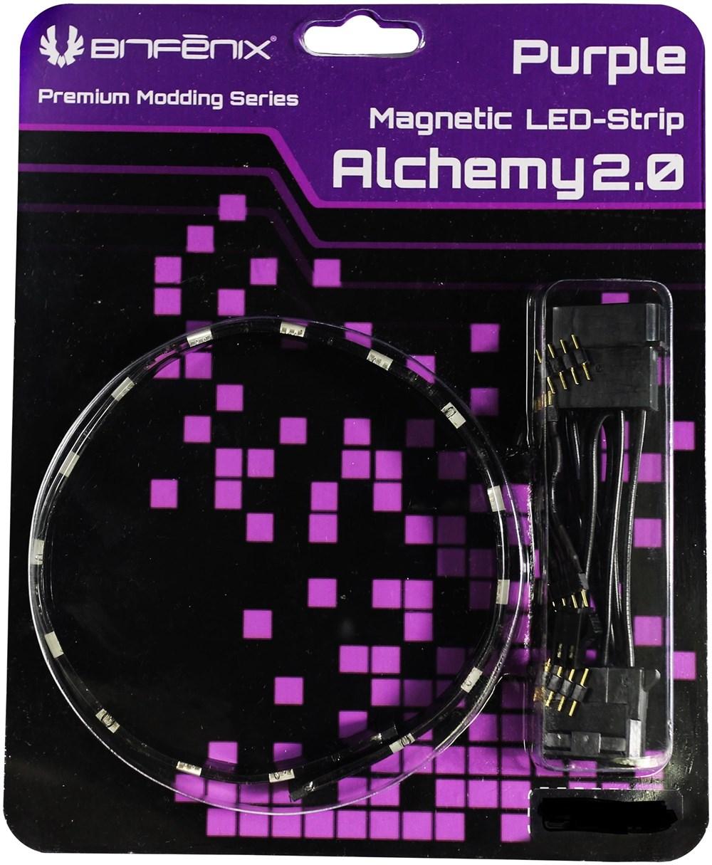 BitFenix Alchemy 2.0 Magnetic LED-Strip 60cm / 30 LEDs / violett - Preisvergleich