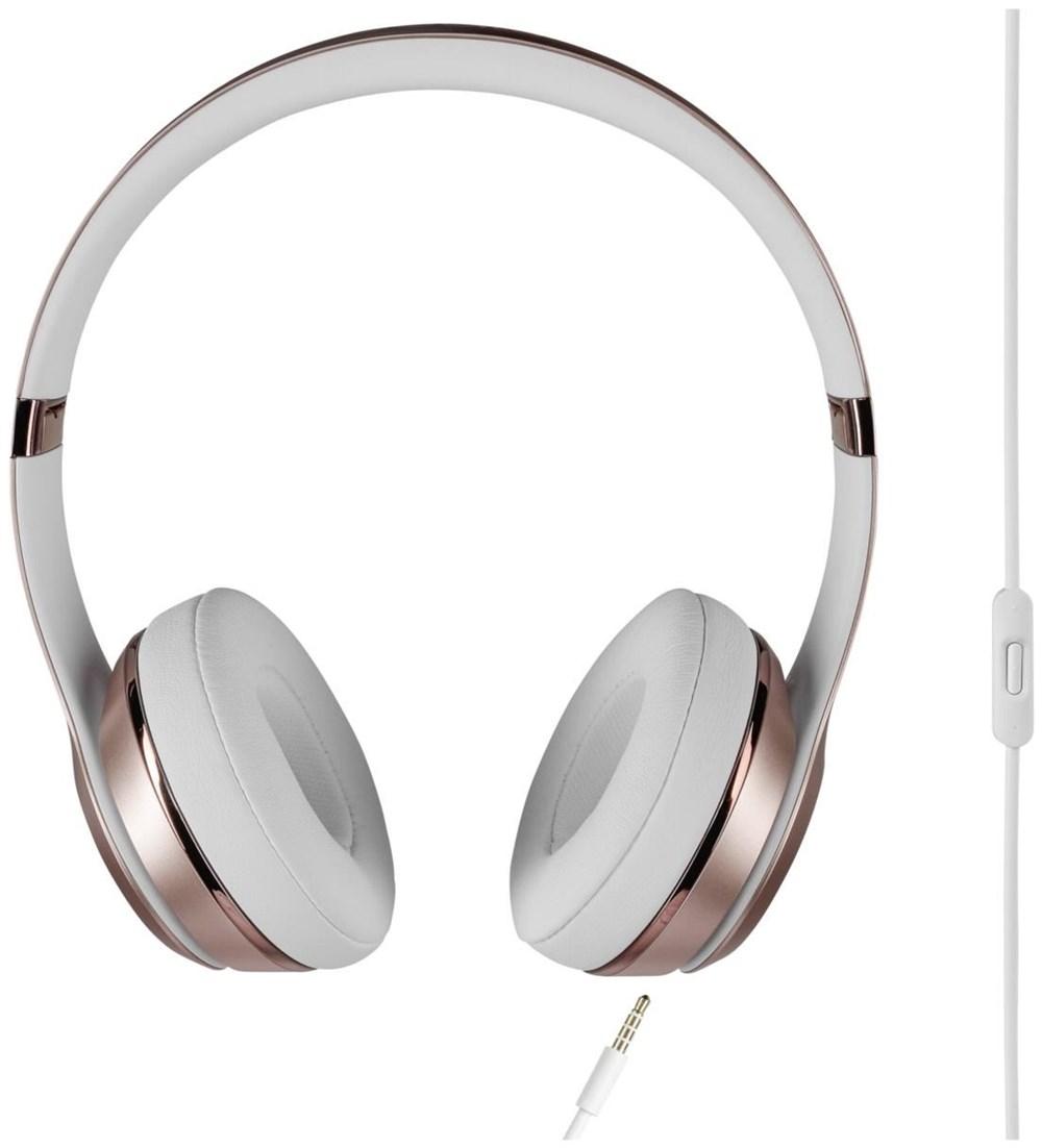 beats solo3 wireless on ear headphones mnet2zm a rose. Black Bedroom Furniture Sets. Home Design Ideas