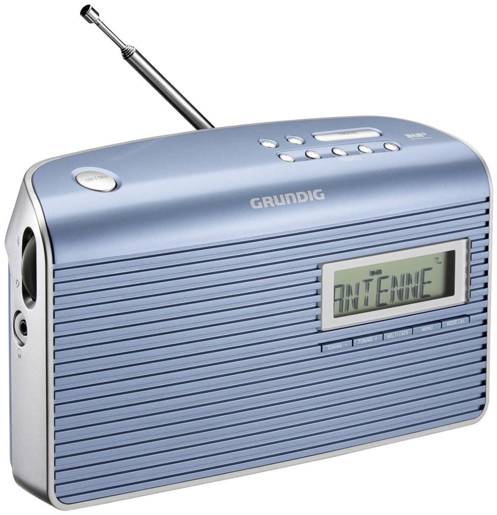 grundig music 7000 dab blue silver radios und. Black Bedroom Furniture Sets. Home Design Ideas
