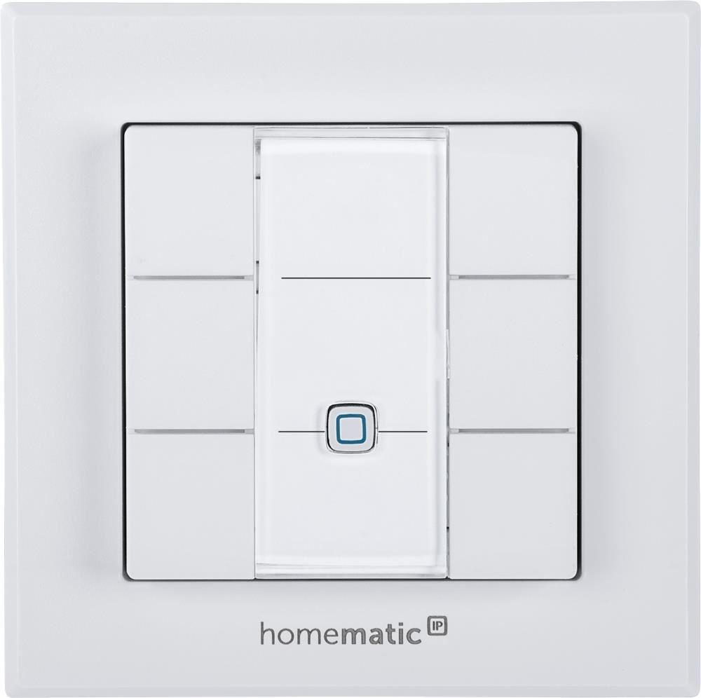 homematic ip wandtaster 6fach smart home energiesparen computeruniverse. Black Bedroom Furniture Sets. Home Design Ideas