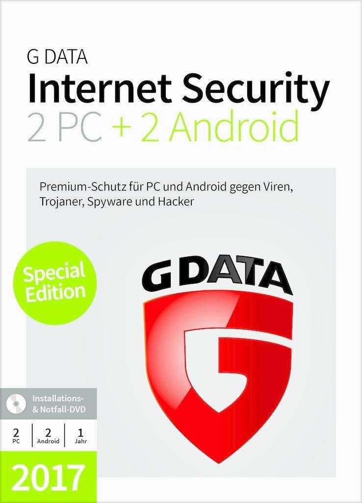 G Data InternetSecurity 17.5 2+2 PC Windows - CD-ROM C1702BOX122U2GE
