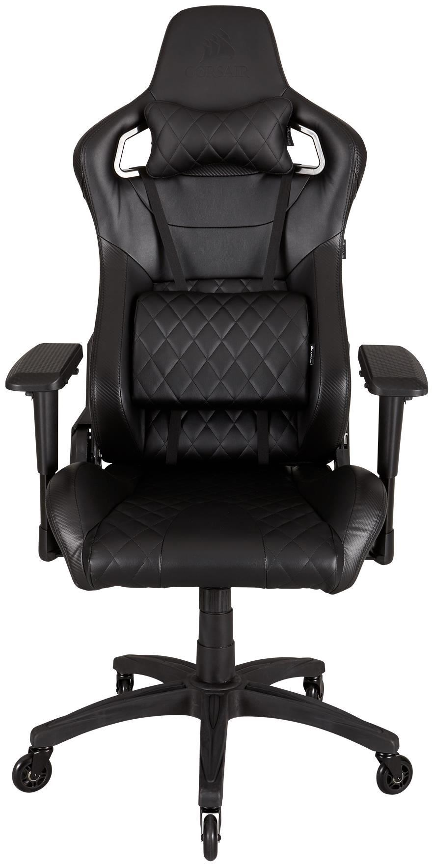corsair t1 race gaming chair schwarz schwarz gaming st hle computeruniverse. Black Bedroom Furniture Sets. Home Design Ideas