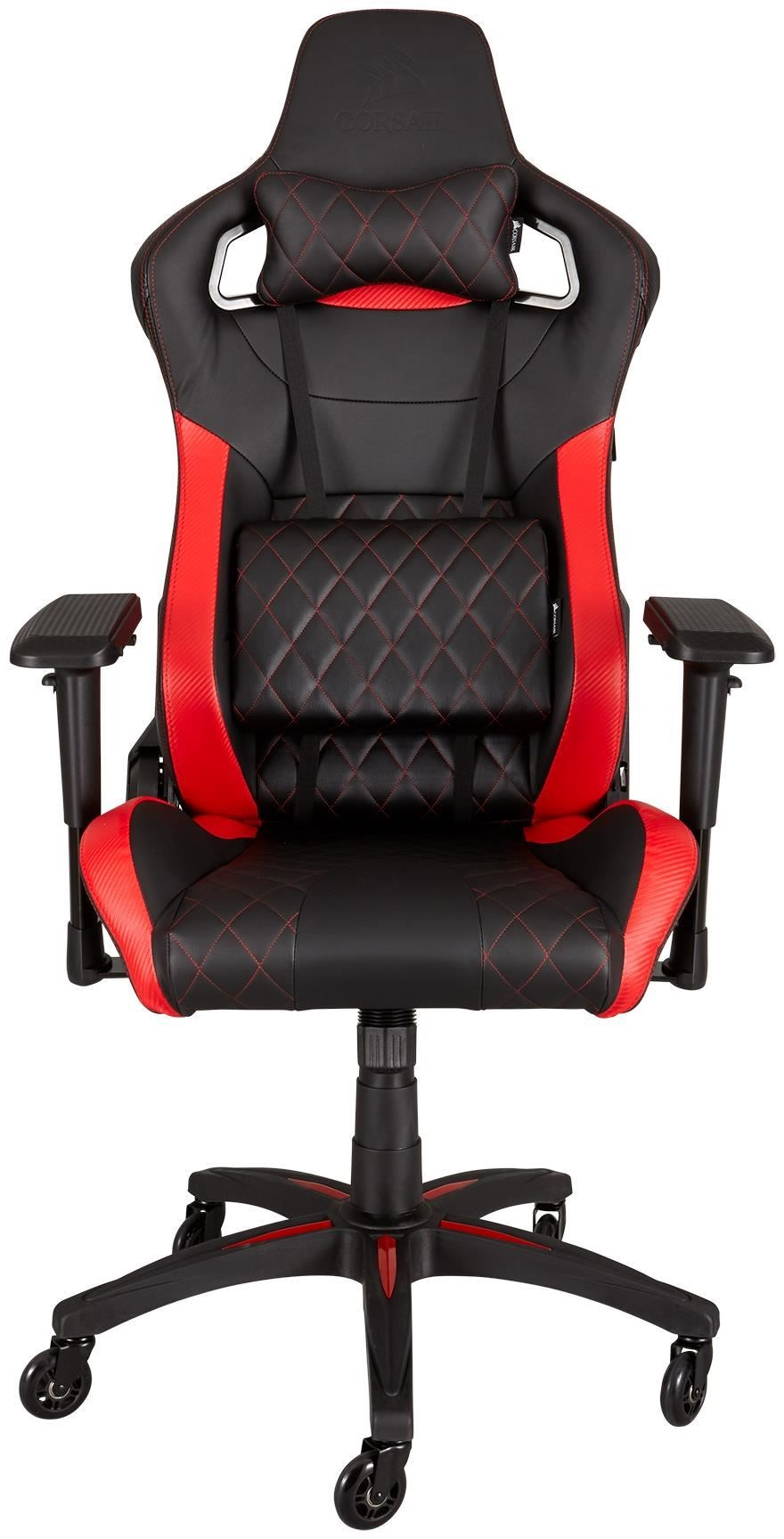 corsair t1 race gaming chair schwarz rot gaming st hle computeruniverse. Black Bedroom Furniture Sets. Home Design Ideas