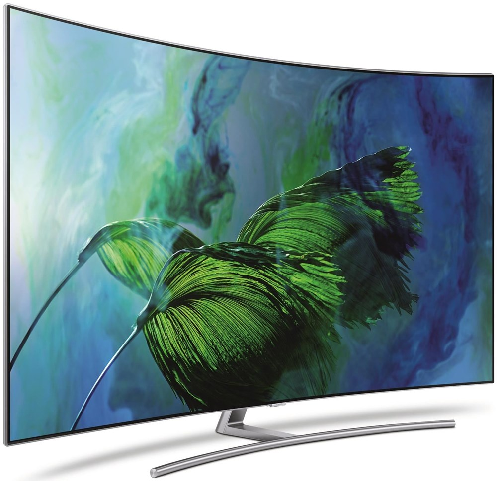 Samsung QLED QE55Q8CGMTXZG Curved sterling silber (deutsches Modell ...