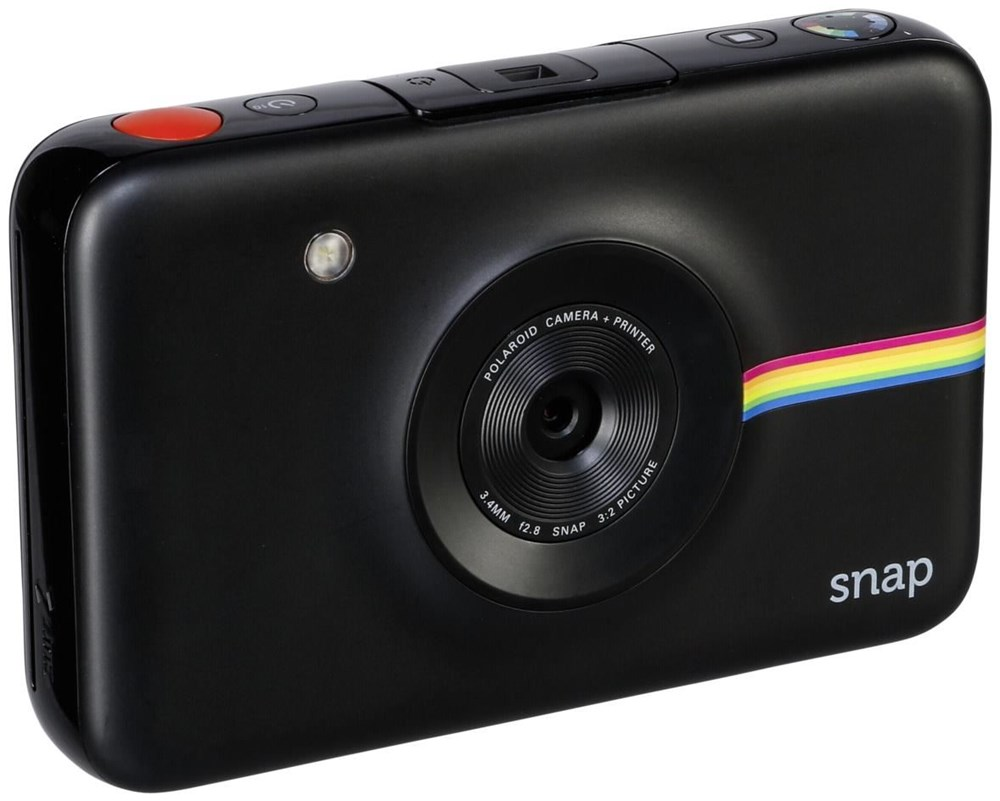 polaroid digitale instant snap kamera schwarz mit zink zer. Black Bedroom Furniture Sets. Home Design Ideas