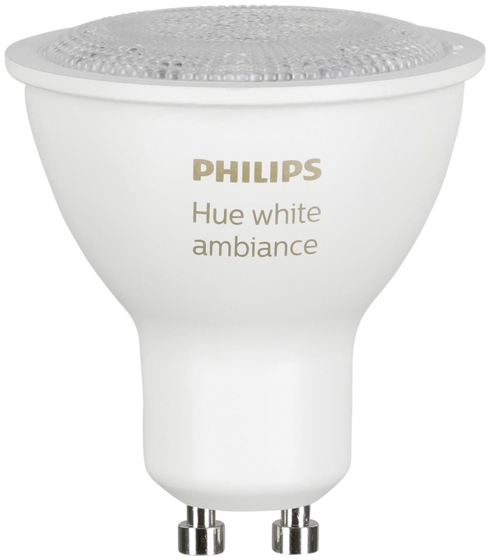 philips hue white ambiance led lampe 5 5w gu10 2 st ck leuchtmittel computeruniverse. Black Bedroom Furniture Sets. Home Design Ideas