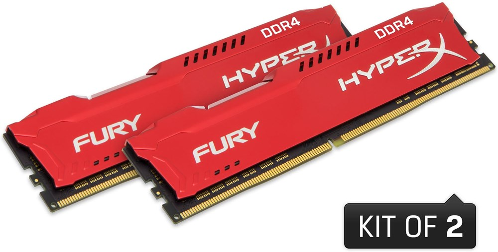 kingston hyperx fury red 32gb ddr4 k2 hx424c15frk2 32. Black Bedroom Furniture Sets. Home Design Ideas