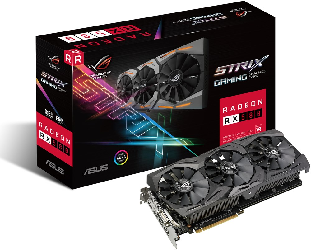 asus radeon rx 580 rog strix rx580 8g gaming 8gb pci. Black Bedroom Furniture Sets. Home Design Ideas